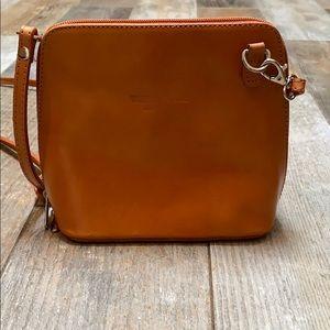 Vera Pelle Italian Leather Mini Crossbody purse